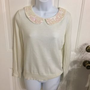 H&M Sequin Collar Sweater (size M) (G4)